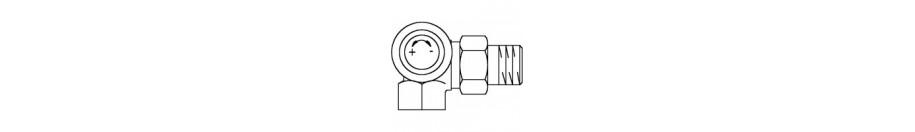 Fűtőtestszelepek termosztatikus fejjel szerelhető kivitelben