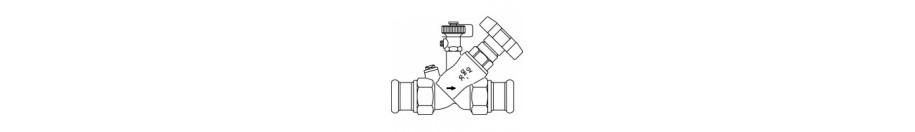 Aquastrom KFR kombinált elzáró- és visszacsapó szelepek