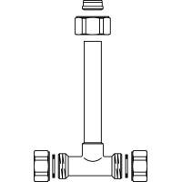 Csatlakozó garnitúra háromjáratú, szelepekhez, DN15, kötéstávolság: 552 mm