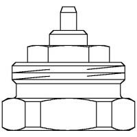 Adapter a menetes csatlakozás, átalakítására M 32 x 1,0-ről M30 x 1,5-re