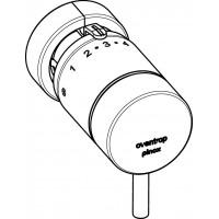 pinox D termosztát, krómozott, szorítócsatlakozással