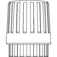 Kézi szabályozó fej, M30 x 1,5-es menetes csatlakozással, fehér