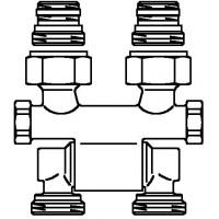 """Multiflex F kétcsöves fűtőtest-csatlakozás ZB, elforgatható, 1/2"""" km x 3/4"""" km"""