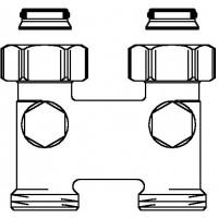 """Fordítóidom elzáróval, egyenes, 50 mm, 3/4"""" hollandi x 3/4"""" km, nikkelezett"""