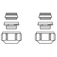 """Ofix CEP szorítógyűrűs csavarzat, 10 mm, 3/4"""" km-re, párban, réz-és precíziós acélcsőre"""