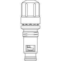 GD szelepbetét, 8 előbeállítási értékkel, szelepes fűtőtestekhez, ülék átmérő: 16 H 11