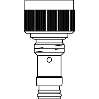 """GHF szelepbetét finom előbeállítással, szelepes fűtőtestekhez, G 1/2"""" km, kv=0.32, kvs=0.37, ülék átmérő 16 H 11"""