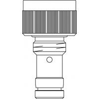 """GHF szelepbetét finom előbeállítással, szelepes fűtőtestekhez, G 1/2"""" km, kv=0.32, kvs=0.37, csőülékkel"""