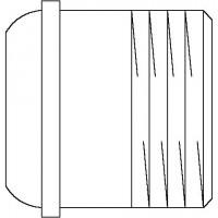 Hosszkiegyenlítő csavarzat (rövid), DN15, 23 mm