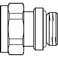 Fűtőtest csatlakozó-toldat öntömítő kivitel, O-gyűrűvel