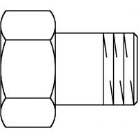 """Lapos tömítésű csavarzat, fűtőtesthez, DN15, 1/2"""" km x 3/4"""" bm hollandi"""