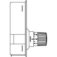 Unibox RTL padlófűtési szabályozóegység, Uni RTLH termosztáttal, 57 mm, nemesacél