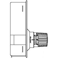 Unibox T padlófűtési szabályozóegység, Uni LH termosztáttal, 57 mm, króm, kv=0.65, kvs=0.90