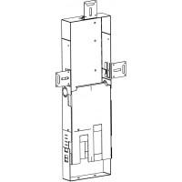 Szerelőcsatorna Unibox-hoz, acéllemezből, magasság: 440-490 mm, szélesség 160 mm