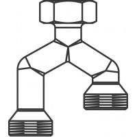 Duo csatlakozóidom Unibox-hoz, két fűtőkör csatlakoztatásához