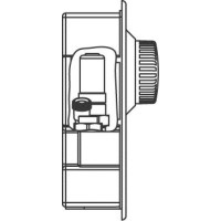 Unibox E BV padlófűtési szabályozóegység, előbeállítható Bypass-szal, 57 mm, fehér, kv=0.52, kvs=0.75