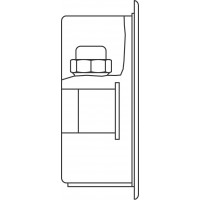 Unibox RLA padlófűtési szabályozó, elzáró- és szabályozó funkcióval, 57 mm fehér