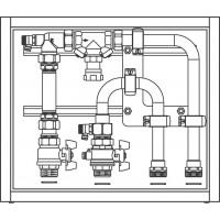 Floorbox felületfűtési-hűtési elosztóegység, alsó csatlakozással (110-145 mm x 400 mm x 350 mm)