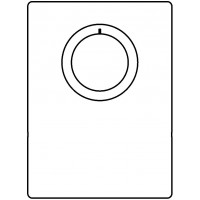 Fedőlemez Unibox E plus és Unibox E T, padlófűtési szabályozóegységhez, króm