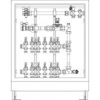 Floorbox HM gyűjtő Unidis felületfűtési rendszerhez, 10 körös