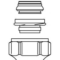 """Ofix CEP szorítógyűrűs csavarzat, 10 mm, 3/4"""" km-re, réz-, precíziós acélcsőre, lágy tömítéssel"""