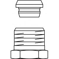 """Ofix CEP szorítógyűrűs nyomócsavarzat, 1/2"""" x 15 mm-re, rézcsövekre, nikkelezett"""
