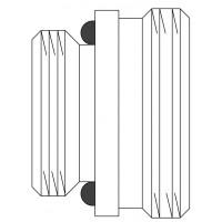 """Közcsavar Multiflex F szelepekhez, 1/2"""" km x G 3/4"""" km, sárgaréz, nyers, készlet = 10db"""