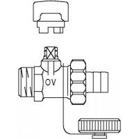 """Kombinált töltő-ürítő golyóscsap, DN10, R 3/8"""" km, PN 16, vörösöntvény"""