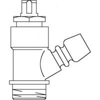Ürítő- és légtelenítő szelep, DN10, fémes tömítéssel