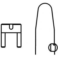 Záró készlet, egyszeres, zárósapkából, ólomzárból és ólomhuzalból, 130 °C-ig