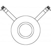 Mérőperem 2 db mérőszeleppel, DN100, karima közé építhető, acél, PN 25, kvs=234.00