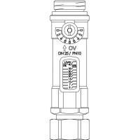 Hycoflow VTB térfogatáram-mérő és beállító készülék, DN25, km-hollandi, 5-40 l/perc