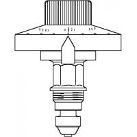 Szelep-felsőrész Hydromat QTR térfogatáram-szabályozókhoz, DN15