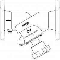 Hydrocontrol AFC strangelzáró szelep, DIN szerinti karimás kivitelben, DN100, PN16, GG25