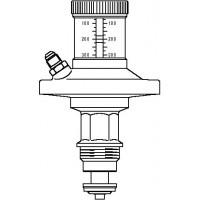 Szelep-felsőrész Hydromat DTR, nyomáskülönbség-szabályozókhoz, DN15, beállítási tartomány: 250-700 mbar