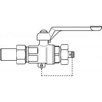 "Optibal golyóscsap, alumínium karral, DN15, 3/4"" km, PN40, hegtoldatos, vörösöntvény"