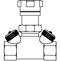 """Hycocon ATZ strangelzáró szelep, sárgaréz, DN20, 3/4"""" bm, mérő- és ürítőszeleppel, kvs=2.70"""