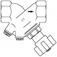 """Hydrocontrol ATR strangelzáró szelep, DN10, 3/8"""" bm, vörösöntvény, vakdugóval, kvs=2.88"""