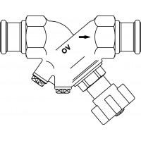 Hydrocontrol ATR strangelzáró szelep, DN15, 15 mm préscsatlakozóval, vörösöntvény, vakdugóval, kvs=3.88