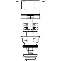 Szelepfelsőrész Hydrocontrol VTR / F, beszabályozó szelepekhez, DN10