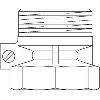 """Zárószelep automatikus légtelenítővel, DN25, G 1 1/2"""" km, G 1 1/2"""" bm, PN10, sárgaréz"""