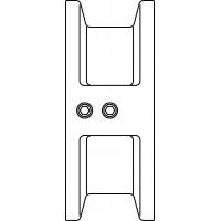 Osztott tányéros visszacsapó szelep, PN16, DN100, karima közé építhető kivitel