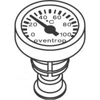 Hőmérő, antracit, DN10 - DN15
