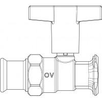 Optibal P szivattyú golyóscsap, zárószelep nélkül, DN32, 35 mm-es préscsatlakozóval