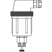 """Precíziós légtelenítő automata zárással, DN10, 3/8"""" km, PN10, sárgaréz"""