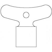 Négyszögkulcs, laptávolság 5 mm