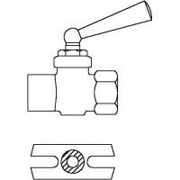 """Manométer-csap, 1/2"""" bm, PN10, tömszelence, ellenőrző perem, sárgaréz, nyers"""