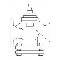 Kétutú szelep, karimás csatlakozással, DN100, PN16