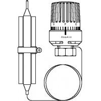 Hőmérséklet-szabályozó, csőre szerelhető, érzékelővel, 20-50 °C, kapillárcső 2 m