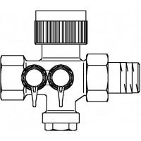 Cocon 2TZ szabályozó szelep hűtési rendszerre, DN15, bm, eco-méréstechnika, kvs=0.45